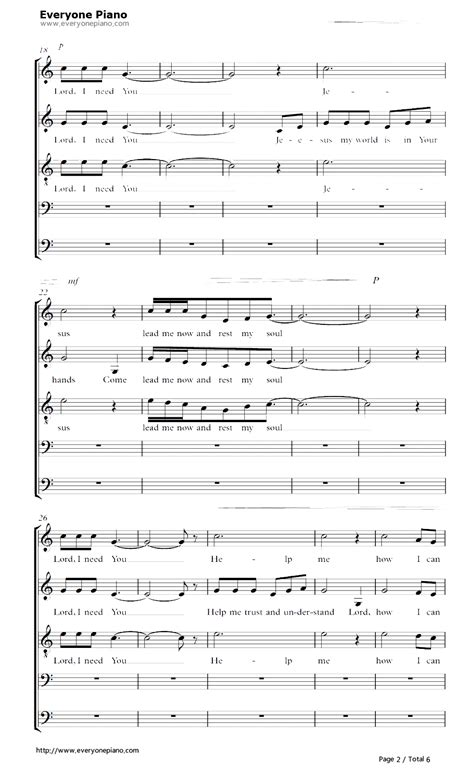 lord i need you stave preview 2 free piano sheet music