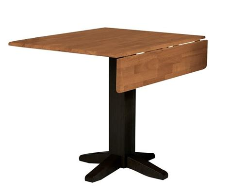 square dining table with leaf hardwood square drop leaf dining table 36 quot t 36sdp 8207