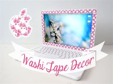Diy Washi Tape Laptop Decor  Youtube. Boys Room Border. Decorative Copper Pots. Decorate Home. Target Dining Room Tables. Home Decorations.com. Ashleys Furniture Living Room Sets. Decorative Lighting Companies. Hotel Rooms For Rent By The Month