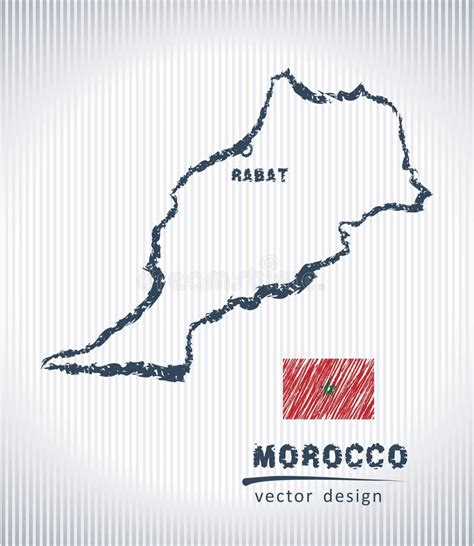 map  morocco  hand drawn sketch  map