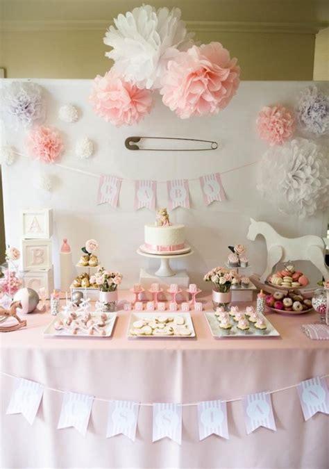dessert table for baby shower gorgeous girl baby shower dessert tables design dazzle