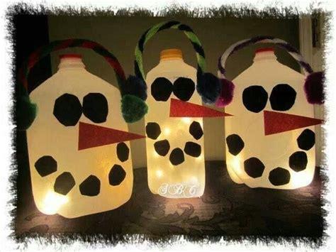 milk jug snowman kids crafts pinterest