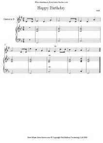 Happy Birthday Clarinet Sheet Music Beginners