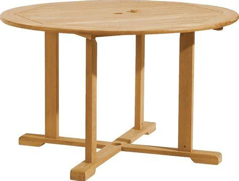 round wooden outdoor table oxford garden round shorea outdoor teak wood dining table