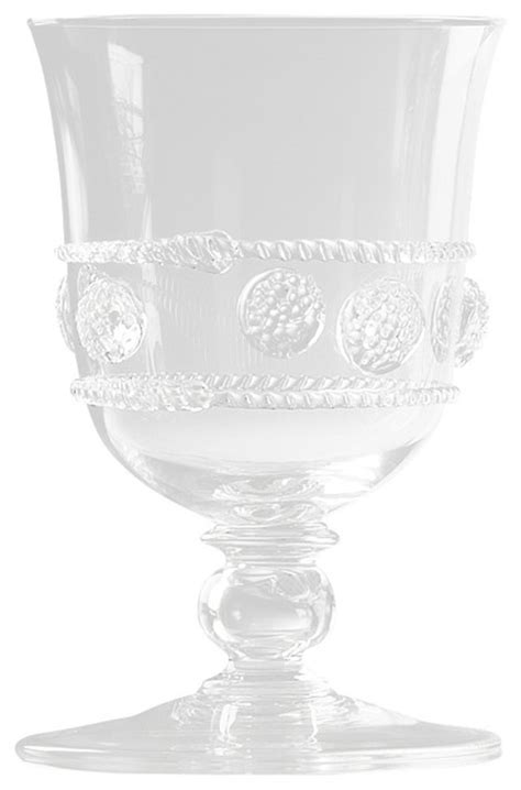 Isabella Tulip Footed Water Glass - Eclectic - Cups And