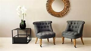 Petit Fauteuil Salon : fauteuil crapaud esprit boudoir et intimiste westwing ~ Teatrodelosmanantiales.com Idées de Décoration