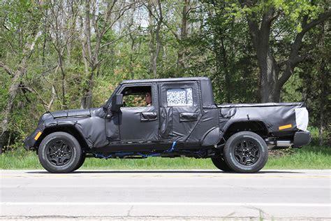 spy shots  jeep wrangler pickup truck spotted  michigan truckscom