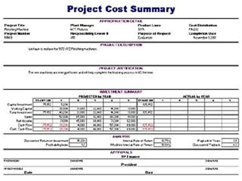 cost summary layout archives blue layouts