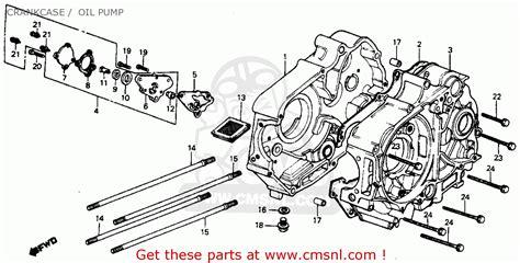 1977 Honda Ct70 Wiring Schematic by Crankcase L Fits C70 Passport 1982 C Usa Order At Cmsnl
