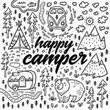 Coloring Camper Camping Happy Sheets Rv Theme Alphabet Slater Rocks Popular Google sketch template