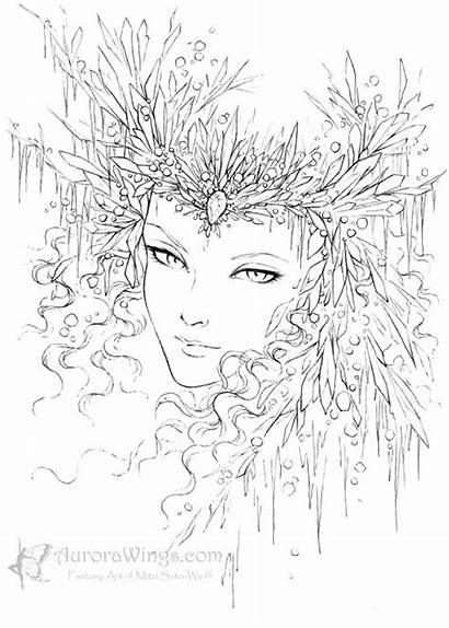 Coloring Pages Adult Queen Snow Adults Printable