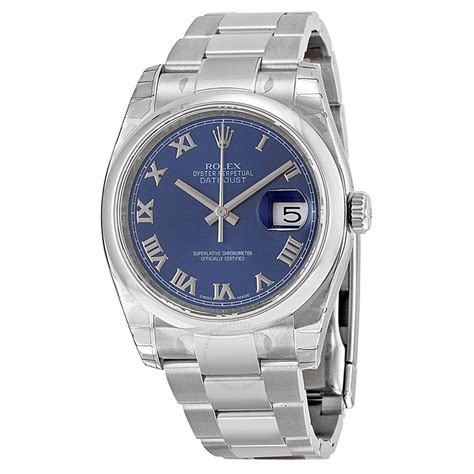 Rolex Datejust 36 Blue Dial Stainless Steel Oyster ...