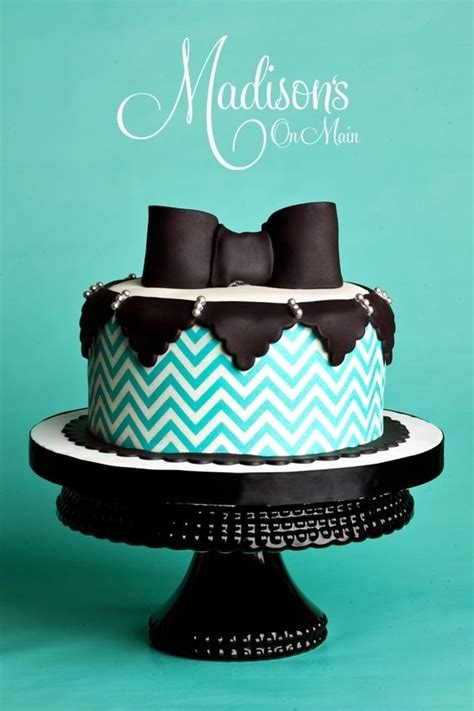 bow tie cake beautiful turquoise and bow ties on
