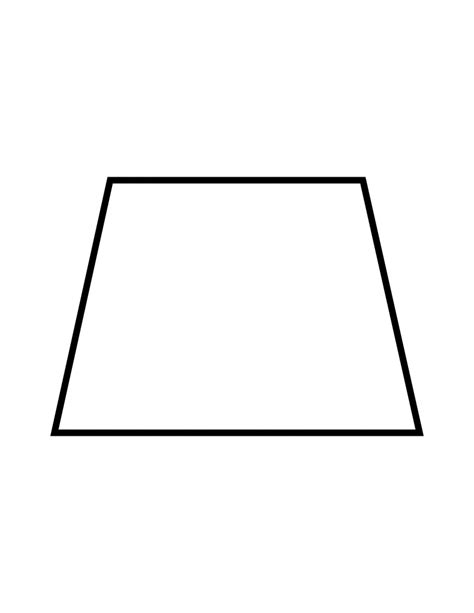 Diagram Of Trapezoid by Flashcard Of A Trapezoid Clipart Etc