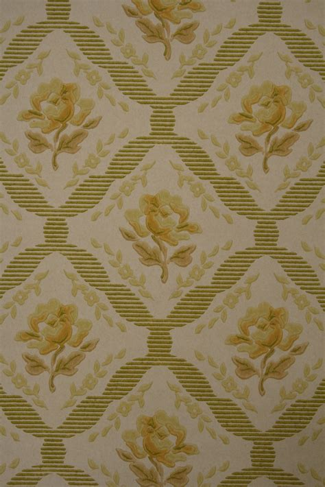 50s floral wallpaper from the late 50s original retro