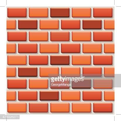 seamless repeating pattern brick wall vector vector art