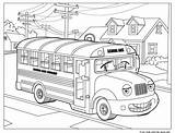 Coloring Bus Printable Pages Print Colouring Printables Books sketch template