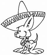 Sombrero Coloring Clipart Pages Clip Library Animals Dog sketch template