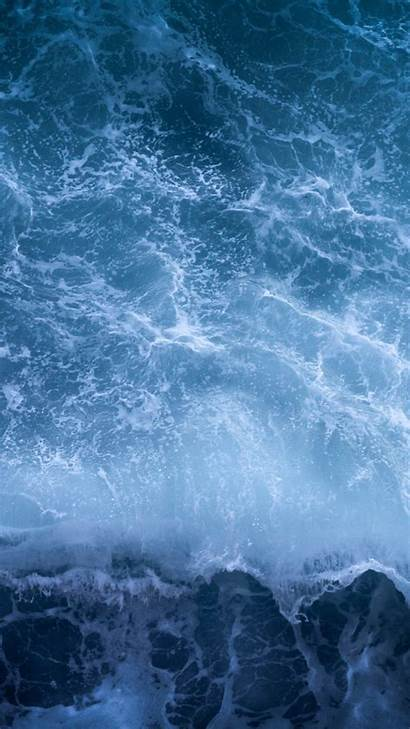 Aesthetic Theme Ocean Desktop Wallpapers Waves Biru