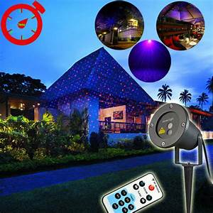 Remote rotating projector red blue xmas landscape outdoor