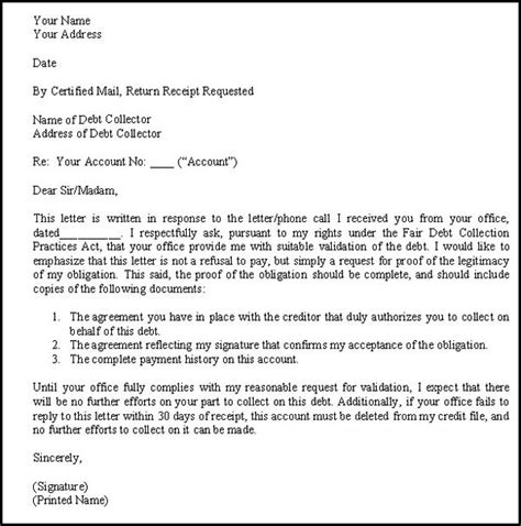 power   debt validation letter james  paris