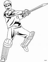 Cricket Coloring Pages Sport Bat Batsman Printable Hitting Player Sketch Stroke Template Offside Game Getcoloringpages Templates Sheet Quiet Very sketch template