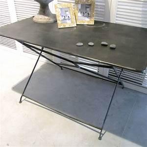 Table Pliante Metal : table de jardin en fer pliante ekipia ~ Teatrodelosmanantiales.com Idées de Décoration