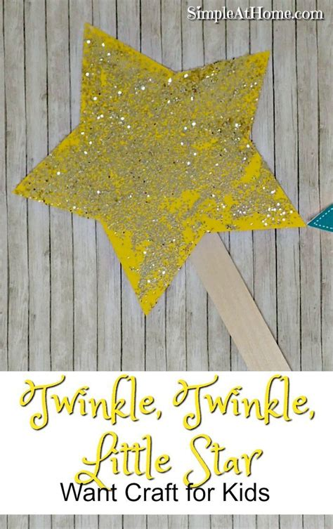 twinkle twinkle  star wand craft nursery rhyme
