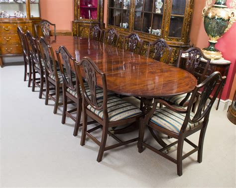 antique regency dining table 12 chairs c 1900
