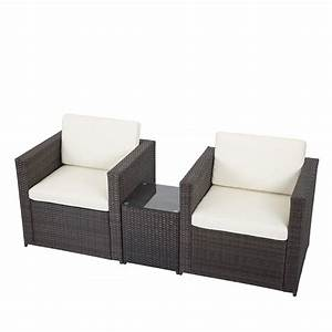 3 pcs outdoor patio sofa set sectional furniture pe wicker With 3 piece outdoor sectional sofa set