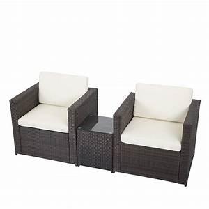 Lounge Set Rattan : 3 pcs outdoor patio sofa set sectional furniture pe wicker rattan deck couch f5 ebay ~ Whattoseeinmadrid.com Haus und Dekorationen