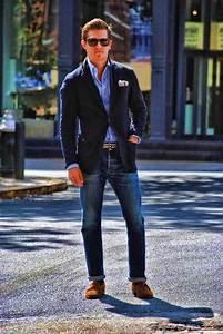 Menu0026#39;s Fashion | The Never-Fail Navy Blazer and Denim Combination. | Style | Pinterest | Blazers ...