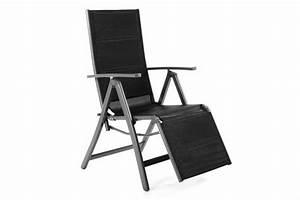 deluxe alu liegestuhl klappstuhl gepolstert mit fussstutze With whirlpool garten mit balkon klappstuhl alu
