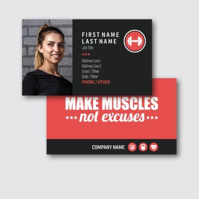 personal trainer business card templates  arts arts