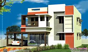 3 bedroom Tamilnadu flat roof house - Kerala home design