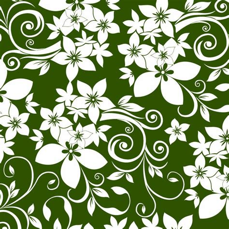 abstract floral ornament  green background  vector