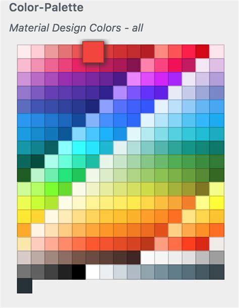 html color palette the quot color palette quot