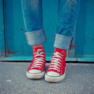 Red Converse with Outfits