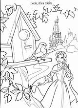Coloring Belle Pages Disney Princesses Princess Colouring Sheets Beast Beauty Adult Books Nurie Printable Colors Story Disneys Robin Looks Its sketch template