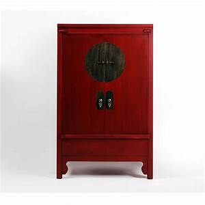 Armoire Chinoise Rouge Brin D39Ouest