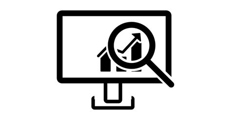 Data Analysis Interface Symbol Of A Monitor With A Bars