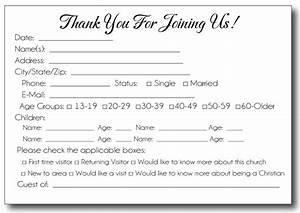 35 awesome visitor card images church pinterest for Church welcome card template