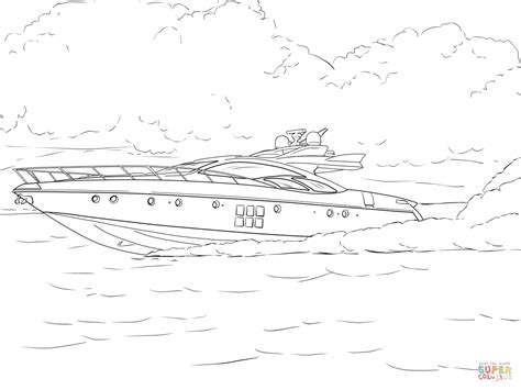 Speedboot Kleurplaat by Speed Boat Coloring Page Free Printable Coloring Pages