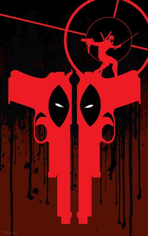 Two Gun Deadpool By Artist Tom Kelly By Tomkellyart On