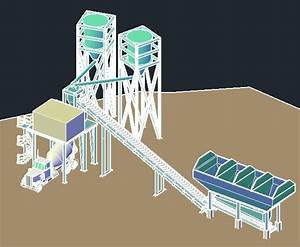 Concrete Batch Plant In Autocad