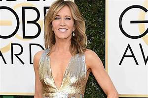 Felicity Huffman Rocks A Pantsuit at the 2017 Golden Globes