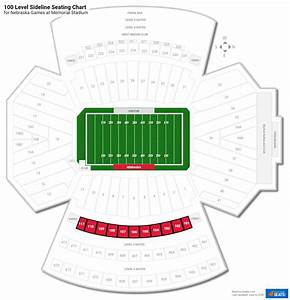 Illini Stadium Seat Chart 100 Level Sideline Memorial Stadium Football Seating