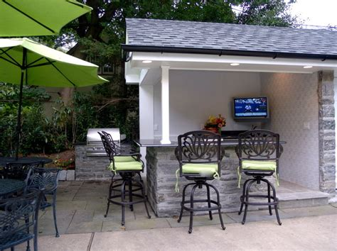 outdoor tv installation eclectic patio philadelphia