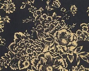 Schwarz Gold Tapete : tapete textil floral schwarz gold architects paper 30657 7 ~ Yasmunasinghe.com Haus und Dekorationen