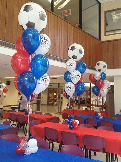 soccer themed balloon centerpiece balloon centerpiece